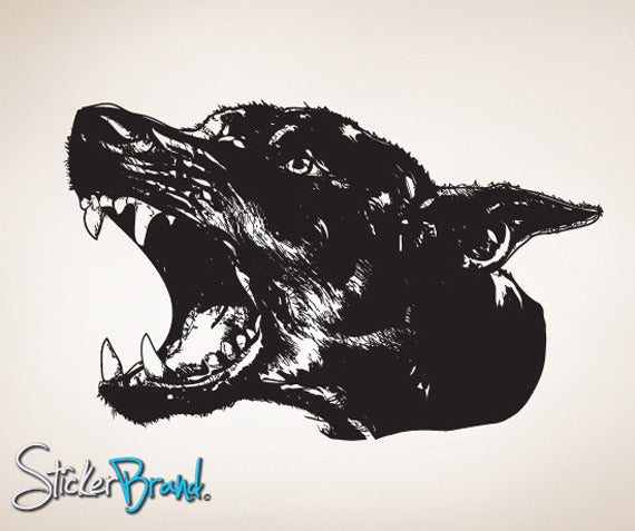 Vinyl Wall Decal Sticker Angry Dog #792
