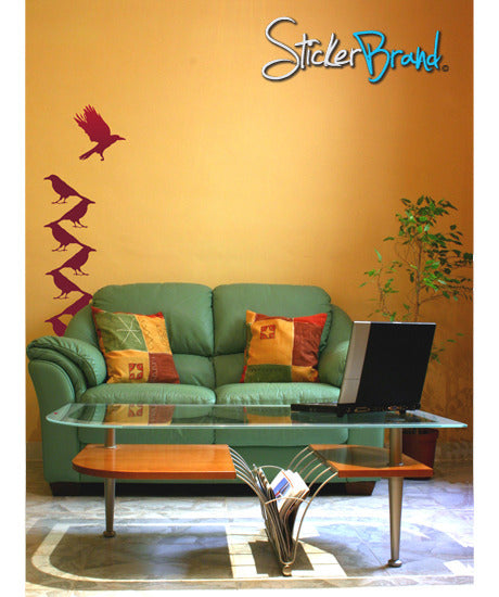 Vinyl Wall Decal Sticker Bird Silhouette Abstract #BRitzel102