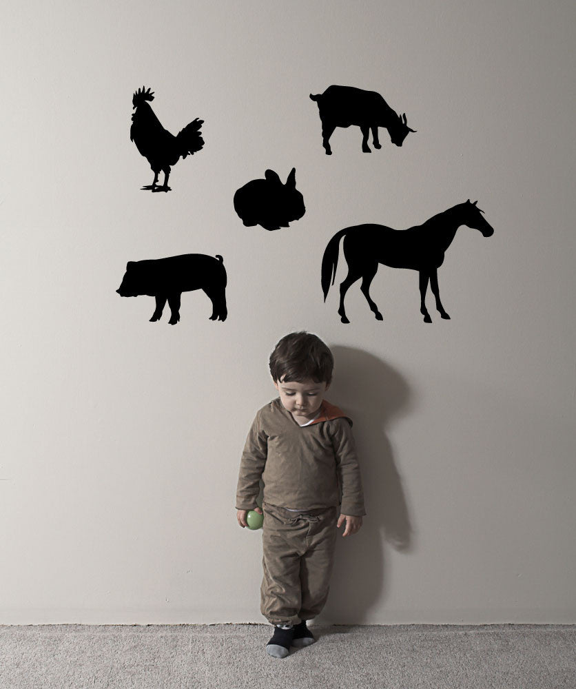 Vinyl Wall Decal Sticker Barn Animals #OS_MG221