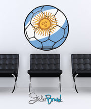 Graphic Wall Decal Sticker Football Soccer Argentina #JH130