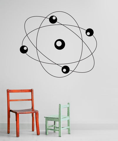 Vinyl Wall Decal Sticker Atom #OS_MG183