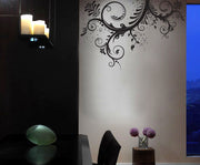 Flower Floral Swirl Vinyl Wall Decal Sticker. #310