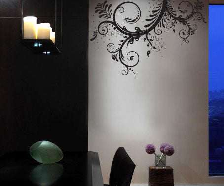 Vinyl Wall Decal Sticker Flower Floral Swirl #310