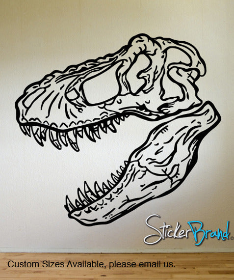 Vinyl Wall Decal Sticker Dinosaur Dino T-Rex skull head #KRiley120