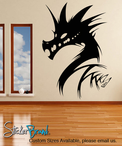 Vinyl Wall Decal Sticker Abstract Dragon Head #KRiley121