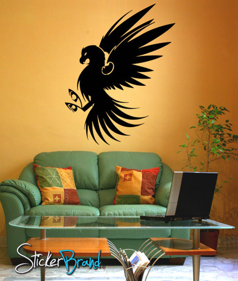 Vinyl Wall Decal Sticker Bird Eagle Hawk #KRiley112