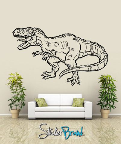Vinyl Wall Decal Sticker Dinosaur Dino T-Rex #KRiley114