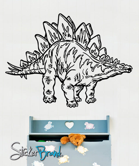 Vinyl Wall Decal Sticker Dinosaur Dino Stegosaurus #KRiley117