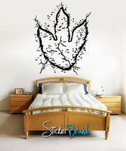 Vinyl Wall Decal Sticker Dinosaur Dino Foot Print #KRiley119