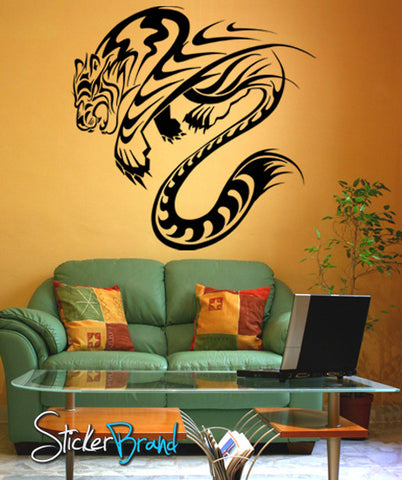 Vinyl Wall Decal Sticker Abstract Tiger #KRiley123