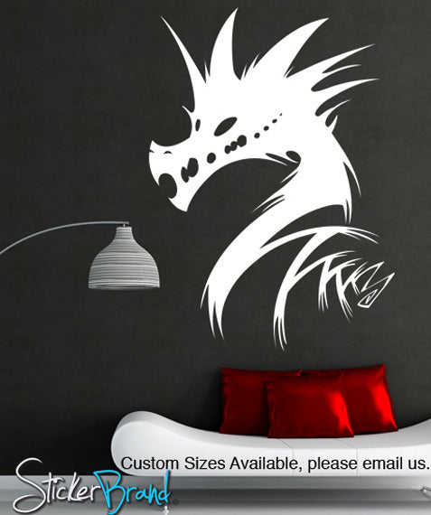 Vinyl Wall Decal Sticker Abstract Dragon Head KRiley - Custom vinyl wall decals dragon
