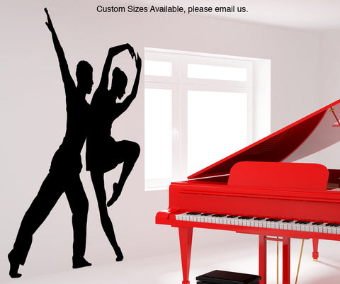 Vinyl Wall Decal Sticker Ballet Couple #AC182