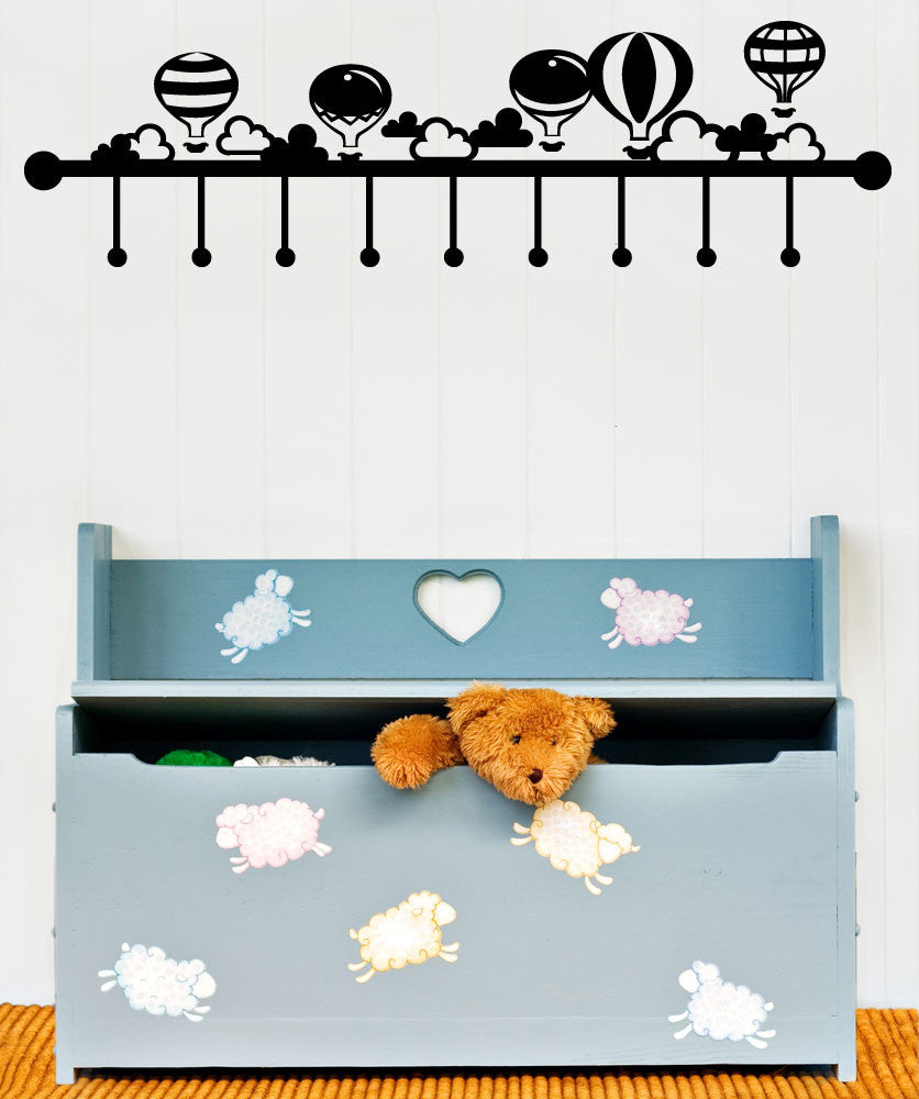 Vinyl Wall Decal Sticker Hot Air Balloon Hanger # #OS_MG150