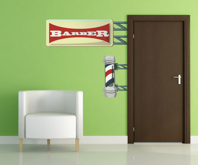 Graphic Wall Decal Sticker Barber Shop Pole #OS_MG108