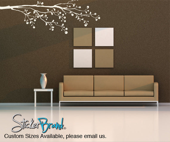 Vinyl Wall Decal Sticker Berry Tree Branch #831