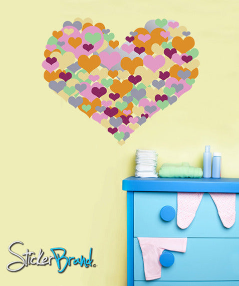 Graphic Wall Decal Sticker Big Heart Full Color #GWray109