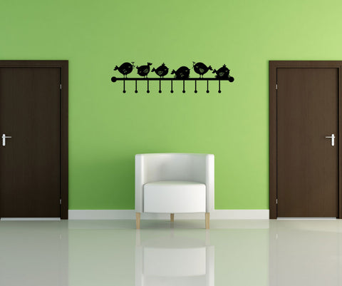 Vinyl Wall Decal Sticker Bird Wall Hook #OS_MG156