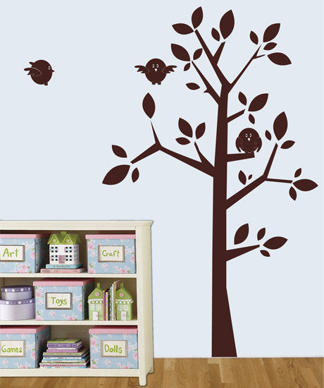 Vinyl Wall Decal Sticker Birds on a Tree #MM141
