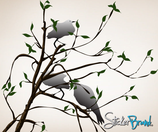 Graphics Wall Decal Bird and Branches #AC106