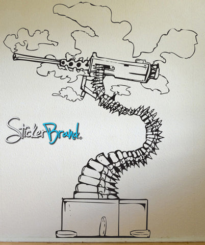 Vinyl Wall Decal Sticker Abstract Bonsai Machine Gun #JH153