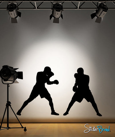 Vinyl Wall Decal Boxing Fight #766