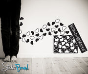 Vinyl Wall Decal Sticker Box of Hearts #CSJean103