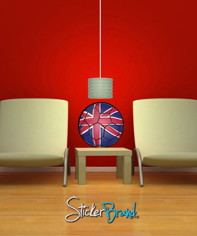Graphic Wall Decal Sticker Football Soccer Britain UK #JH133