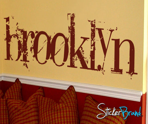 Vinyl Wall Decal Sticker Brooklyn NYC Large #T102