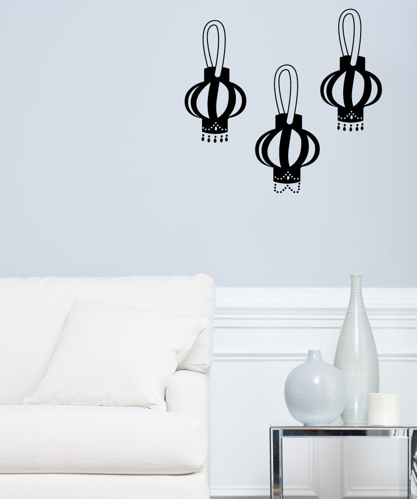 Vinyl Wall Decal Sticker Lanterns #OS_MG281