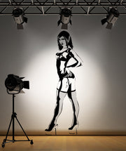 Vinyl Wall Decal Sticker Cabaret Dancer #AC162