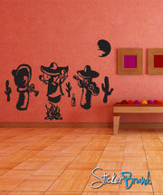 Vinyl Wall Decal Cactus Mexican Mariachi Band #GFoster103