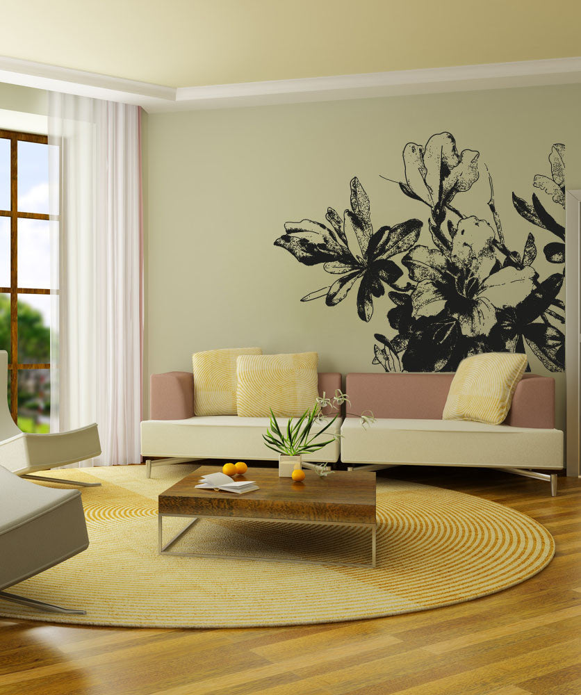Large Flower Wall Decals | Vinyl Flower Stickers ...