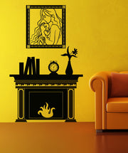 Vinyl Wall Decal Sticker Fireplace #OS_DC147