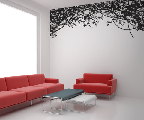 Vinyl Wall Decal Sticker Tangle of Leaves #OS_AA295
