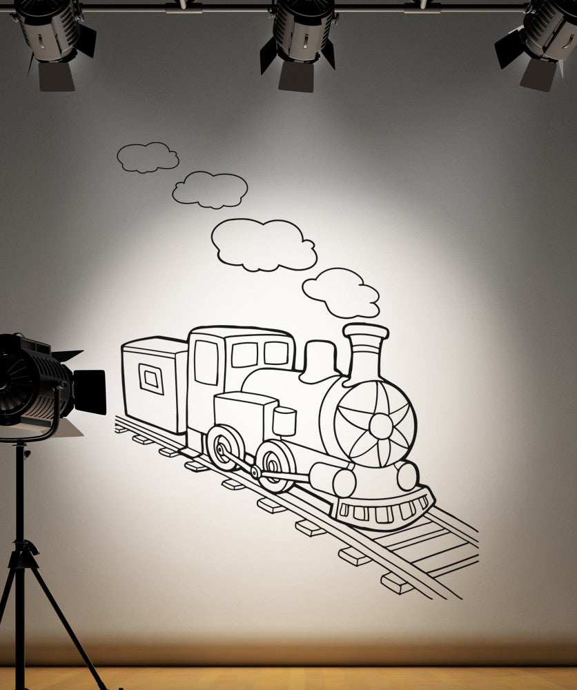 Vinyl Wall Decal Sticker Kids Train Engine #OS_AA215