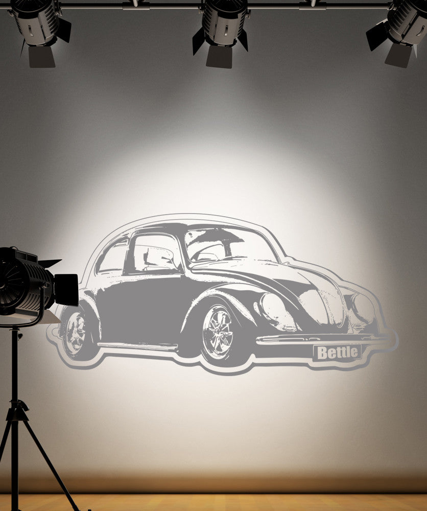 Vinyl Wall Decal Sticker 1970's VW Bug #OS_AA156