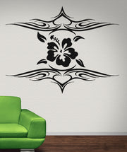 Vinyl Wall Decal Sticker Hibiscus Tribal Tattoo #OS_AA273