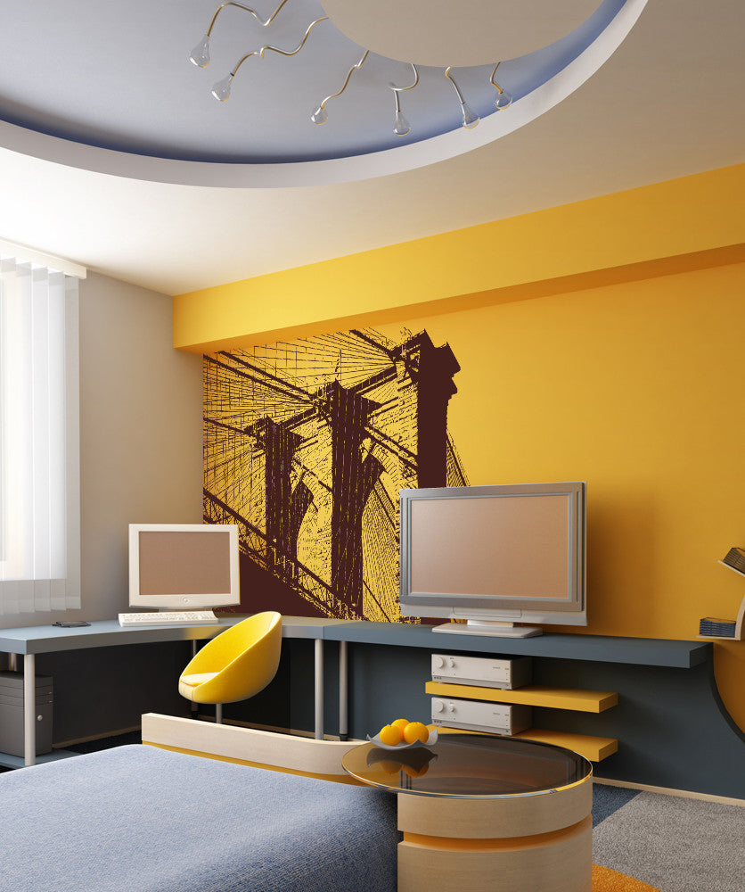 Vinyl Wall Decal Sticker Brooklyn Bridge #OS_AA549