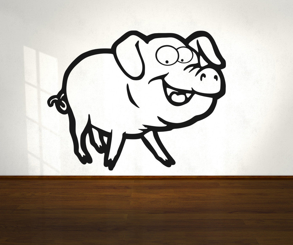 Vinyl Wall Decal Sticker Cartoon Pig #OS_AA667