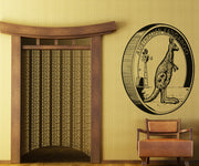 Vinyl Wall Decal Sticker Kangaroo Coin #OS_AA469