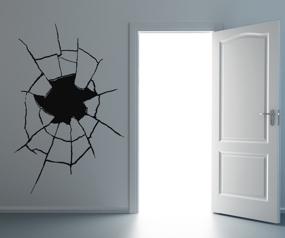 Vinyl Wall Decal Sticker Hole Through the Wall #OS_AA388