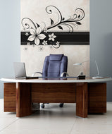 Vinyl Wall Decal Sticker Hawaiian Flower Border #OS_AA367