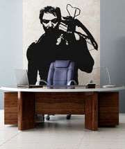 Vinyl Wall Decal Sticker Hunter with Crossbow #OS_AA527