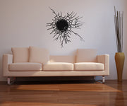 Vinyl Wall Decal Sticker Glass Hole in the Wall #OS_AA387