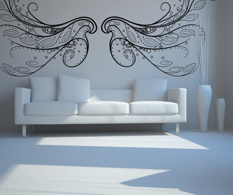 Vinyl Wall Decal Sticker Angel Wings #OS_DC225