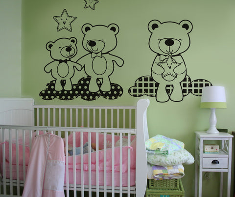 Vinyl Wall Decal Sticker Teddy Bears in the Sky #OS_DC348