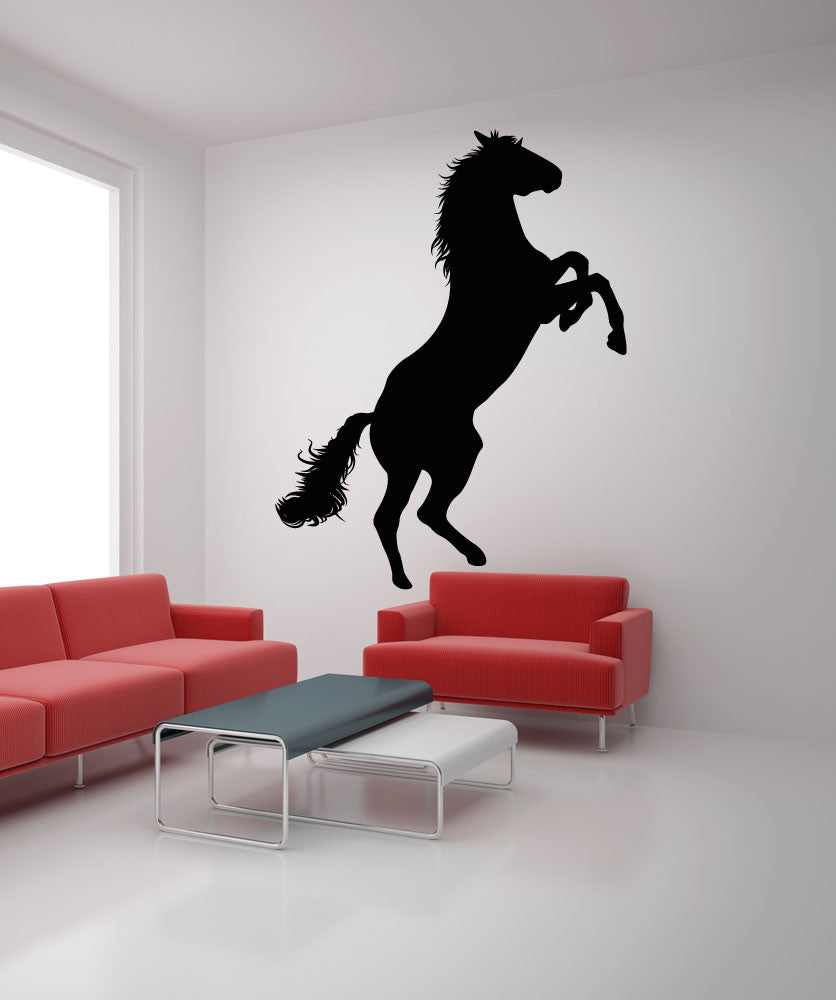 Vinyl Wall Decal Sticker Bucking Horse #OS_MB427