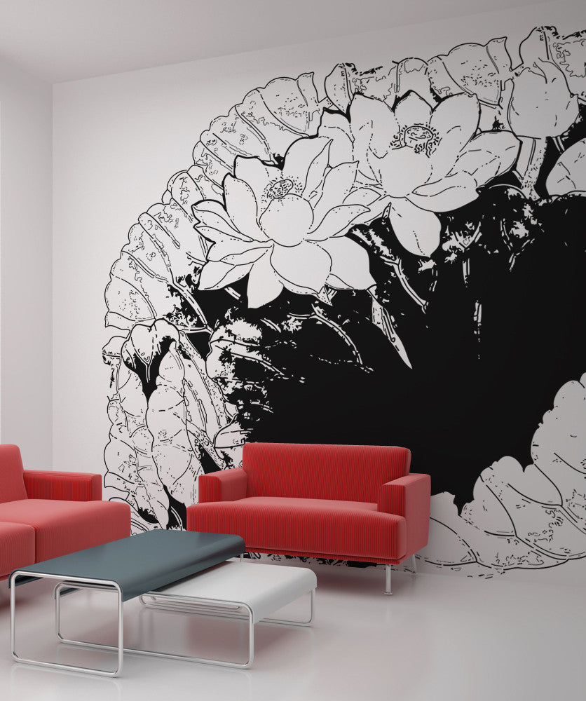 Vinyl Wall Decal Sticker Flowers and Leaves #OS_AA248