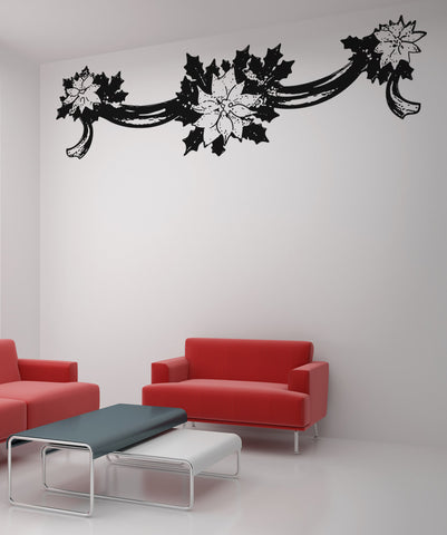 Vinyl Wall Decal Sticker Flower Banner #OS_AA256