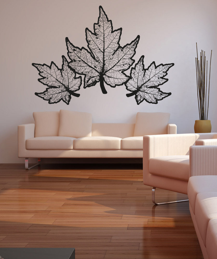 Vinyl Wall Decal Sticker Autumn Leaves Os Aa320